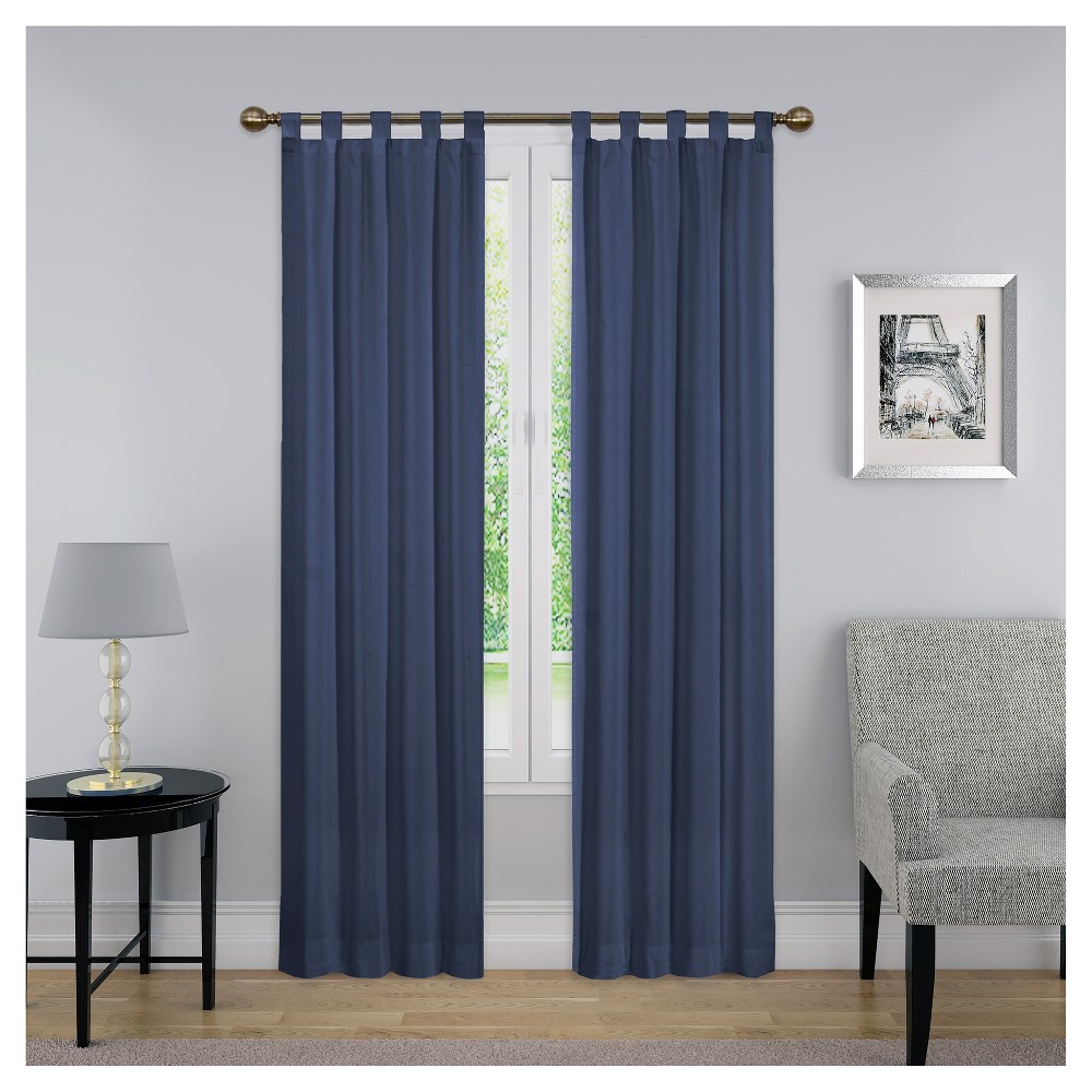 Curtain Panels Solid Blue 30