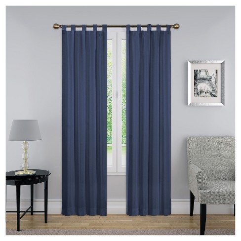 """Curtain Panels Solid Blue 30""""x 63"""" - Pairs To Go™ : Target"""