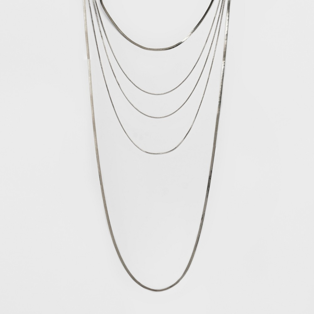 Five Row Layered Necklace - A New Day Silver