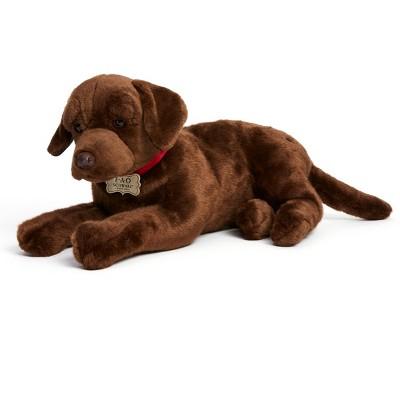 FAO Schwarz Toy Plush Chocolate Labrador 18inch