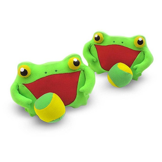 Melissa & Doug Sunny Patch Froggy Toss and Grip Catching Game With 2 Balls image number null