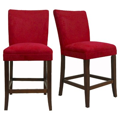 "Set of 2 24"" Napa Counter Height Barstools Red - Inspire Q"