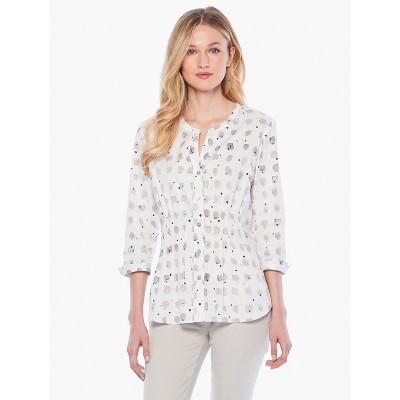 NIC+ZOE Women's Cafe Shirt Grey Multi