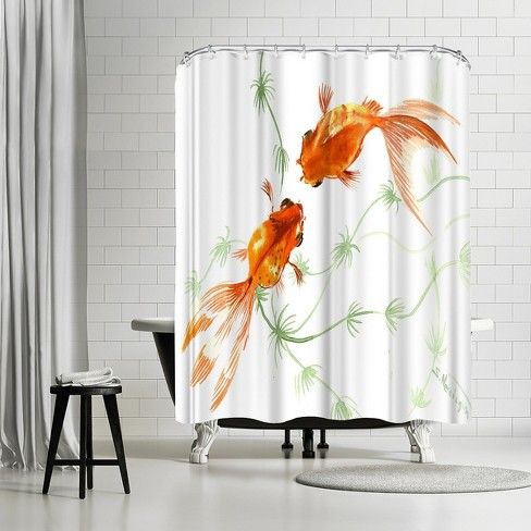 Americanflat Feng Shui Goldfish Koi 2 By Suren Nersisyan 71 X 74 Shower Curtain Target