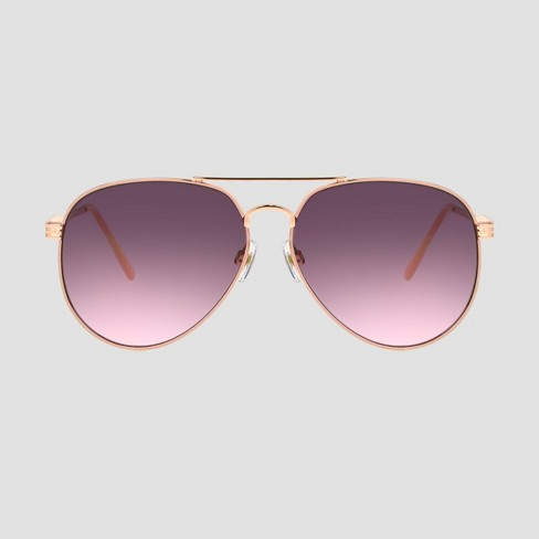 Women's Aviator Metal Sunglasses - A New Day™ - image 1 of 2