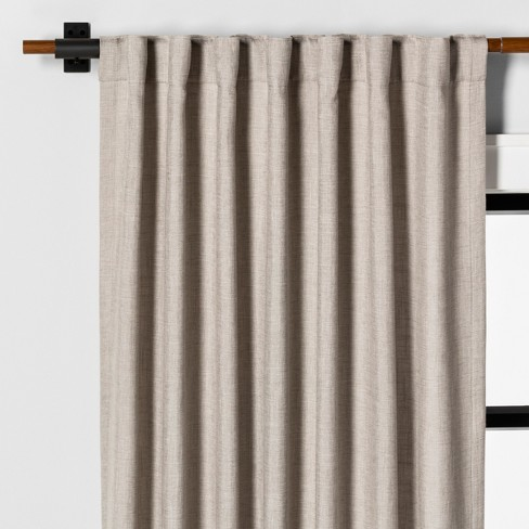 Curtain Panel Solid Fresno Pebble - Hearth & Hand™ with Magnolia - image 1 of 4