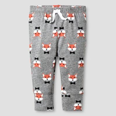 Baby Fox Print Jogger Pants Cat & Jack™ - Gray Newborn