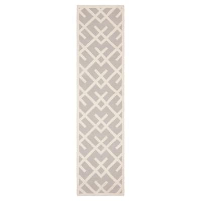 Tangier Dhurry Area Rug - Gray/Ivory (2'6 x6')- Safavieh®