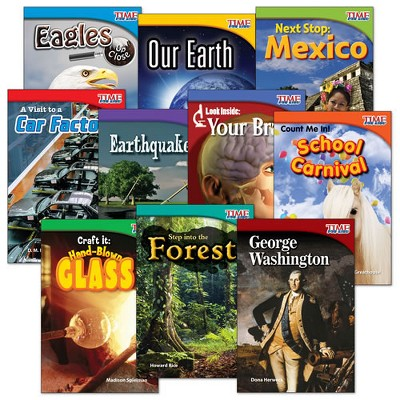 Shell Education TIME FOR KIDS Nonfiction Readers Grade 2 Set 1 - 10-Book Set