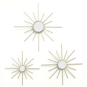 Stratton Home Decor Shd0065 Multi Sized Metal Mirror Wall Art Room Decoration For Bedroom Bathroom Living Room Or Kitchen Target