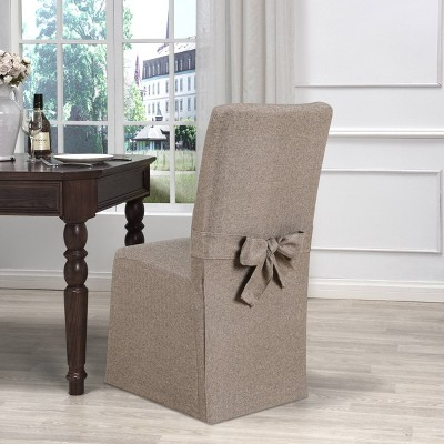 Evening Flannel Dining Room Chair Slipcover Fawn - Kathy Ireland