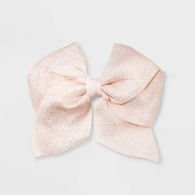 Girls' Shimmer Bow Clip - Cat & Jack™ Rose Gold