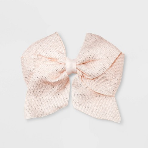 Girls' Shimmer Bow Clip - Cat & Jack™ Rose Gold - image 1 of 2