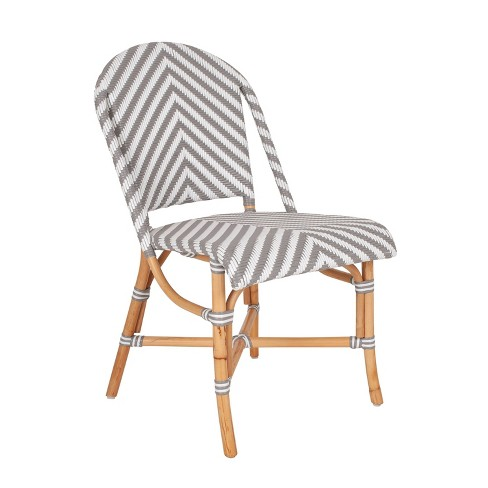 Nehemiah Bistro Side Chair Gray/White - East at Main - image 1 of 4
