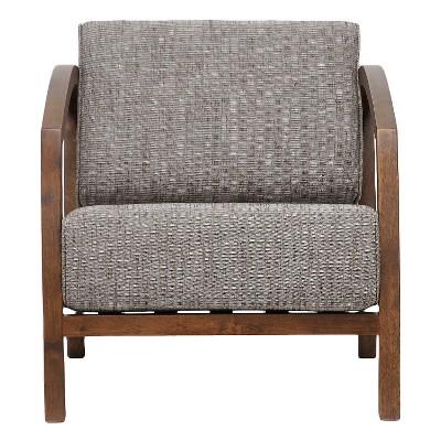 Velda Modern Accent Chair Brown   Baxton Studio : Target