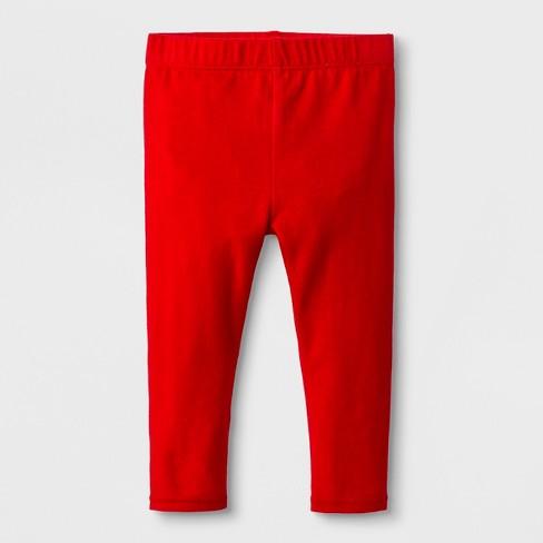 5f50e8f0c Baby Girls' Bow Back Leggings - Cat & Jack™ Red 0-3M : Target