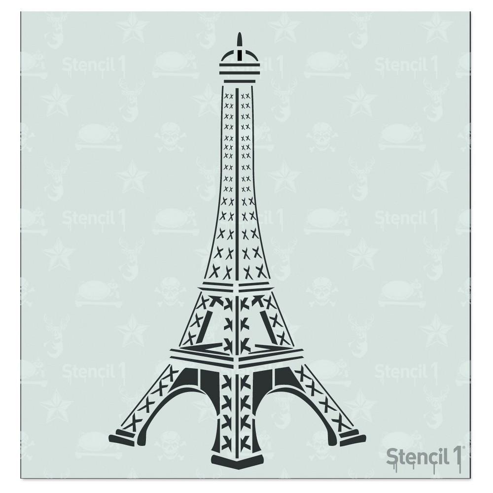 Stencil1 Eiffel Tower Stencil 5 75 34 X 6 34