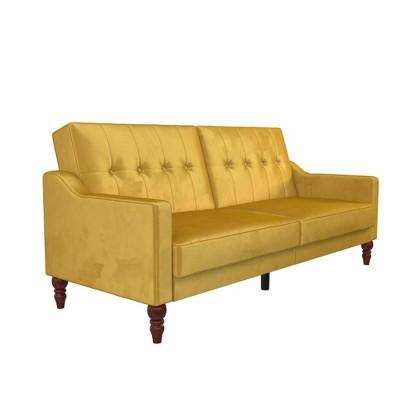 Beatrice Coil Futon Convertible Sofa Bed and Couch - Novogratz