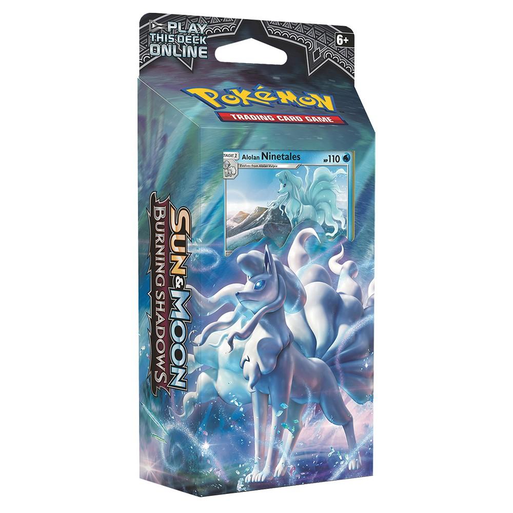 Pokemon Sun Moon Burning Shadows Trading Card Game Theme Deck featuring Ninetales