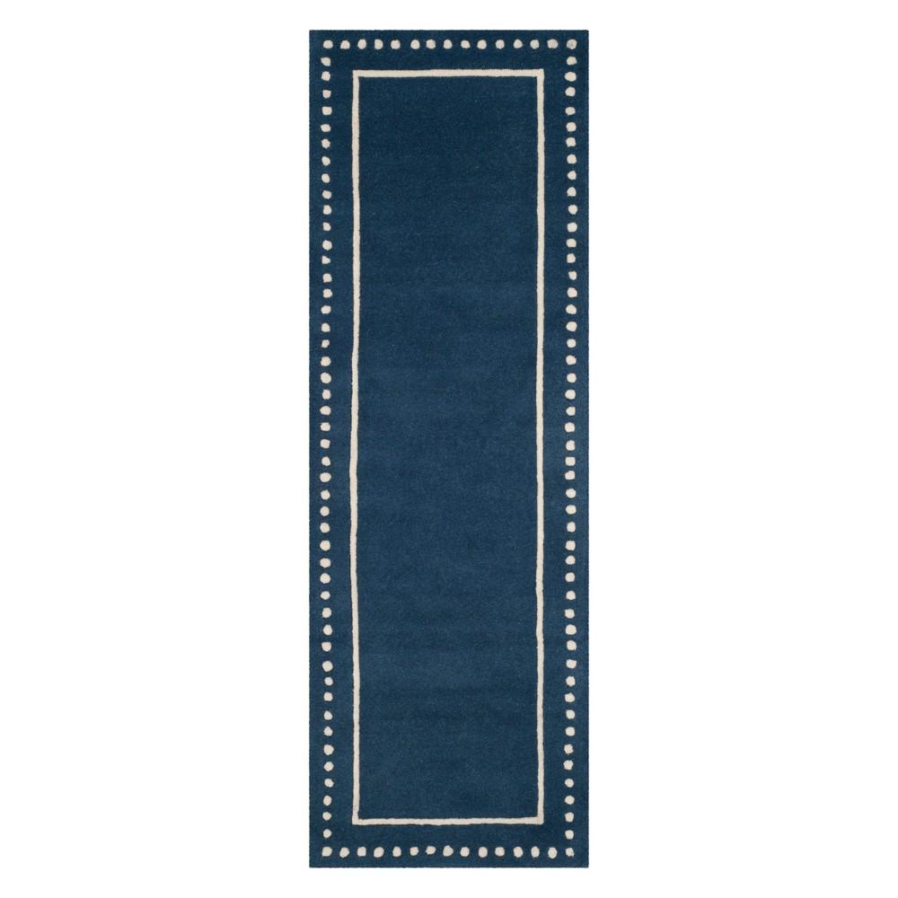 23X7 Solid Runner Navy Blue/Ivory - Safavieh Buy