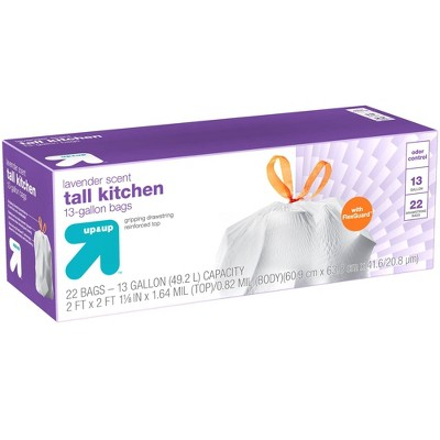Ultra Strong Tall Kitchen Drawstring Trash Bags - Lavender Scent - 22ct - Up&Up™