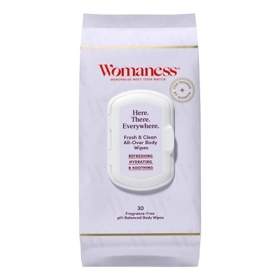 Womaness Here There Everywhere pH Balanced Wipes - 30ct