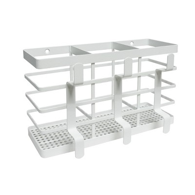 Flat Metal Hair Tool Organizer with Powder Coated Finish White - Made By Design™