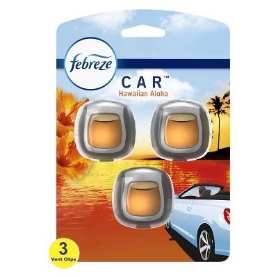 Febreze Car Odor-Eliminating Air Freshener Vent Clip - Hawaiian Aloha
