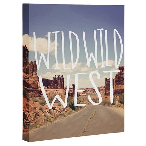 Leah Flores Wild Wild West Art Canvas by Deny Designs - image 1 of 1