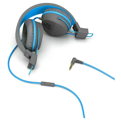 78ccd1128bd JLab Neon Wired On Ear Headphones With Universal Mic - Gray/Blue : Target