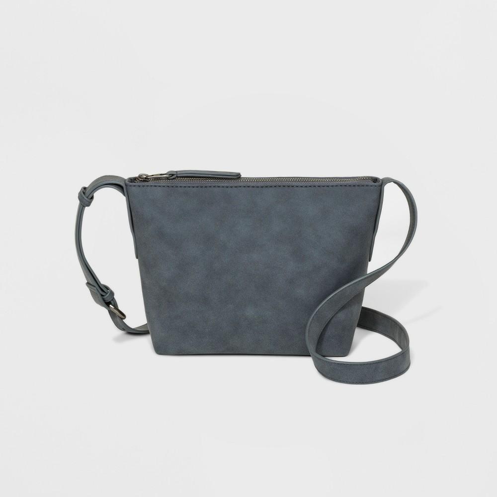 Carter Top Zip Crossbody Bag - Universal Thread Blue, Women's, Size: Small