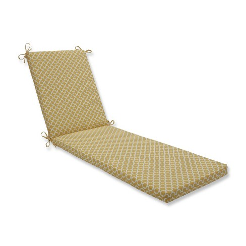 Indoor/Outdoor Hockley Banana Yellow Chaise Lounge Cushion - Pillow Perfect - image 1 of 1