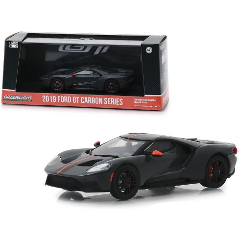 2019 Ford GT Carbon Series with Orange Accents 1/43 Diecast Model Car by Greenlight - image 1 of 3