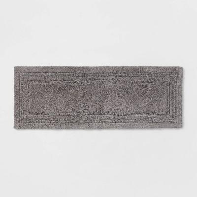 "22""x60"" Performance Cotton Reversible Bath Runner Light Gray - Threshold™"