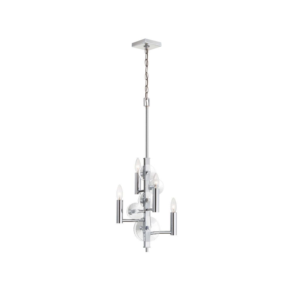 Image of Engeared 4 Light Chandelier Chrome - Varaluz
