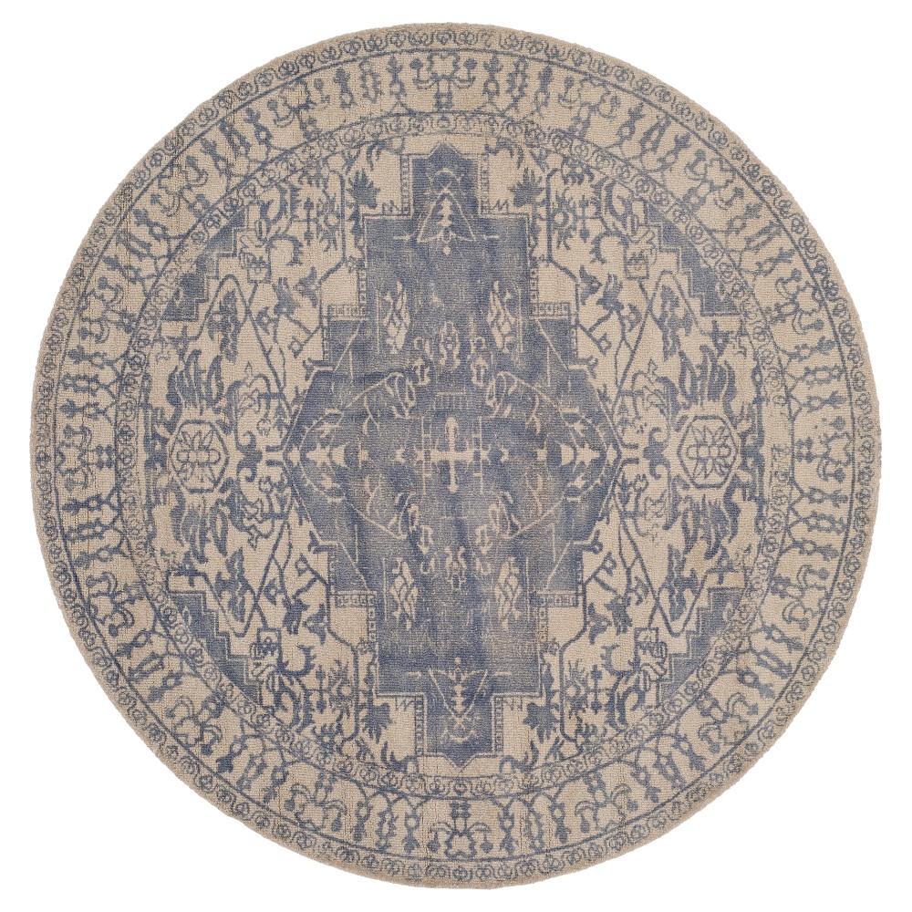 Restoration Vintage Rug - Blue/Grey - (6'x6' Round) - Safavieh, Blue/Gray