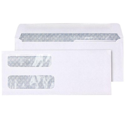 MyOfficeInnovations Lsr Check Size Double-Window Security-Tint Gummed Envelopes 1 000/BX 381898