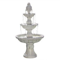"59"" Welcome 3-Tier Outdoor Garden Fountain - Sunnydaze Decor"