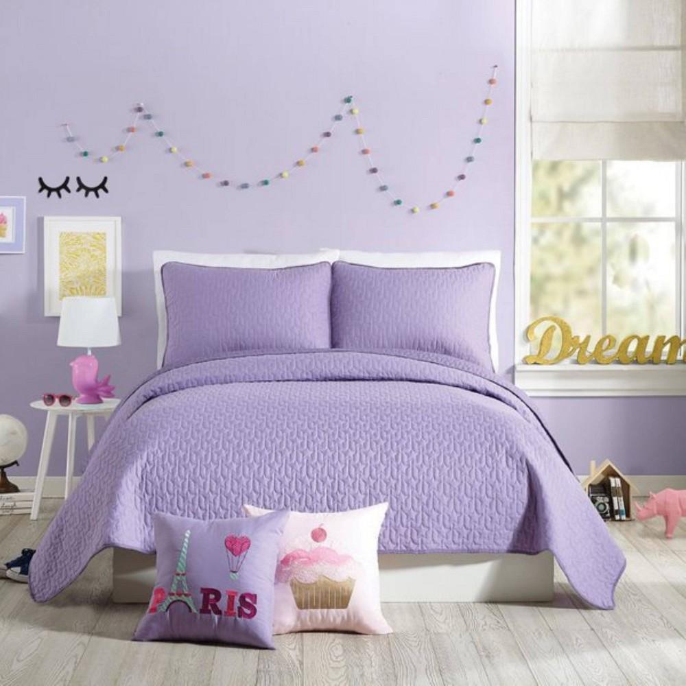 Image of 2Pc Twin Coty Quilt Set Purple - Urban Playground