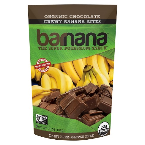 Barnana Organic Chocolate Chewy Banana Bites - 3.5 oz - image 1 of 1