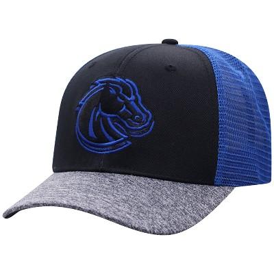 NCAA Boise State Broncos Men's Black & Gray with Hard Mesh Snapback Hat
