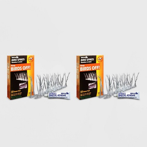 2pk 10' Plastic Bird Spikes Kit With Glue - Bird-X - image 1 of 3