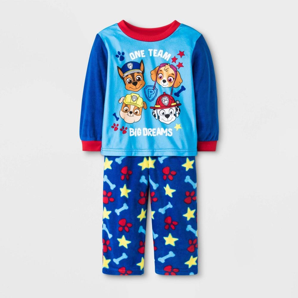Image of Baby Boys' 2pc PAW Patrol Fleece Pajama Set - Blue 12M, Boy's