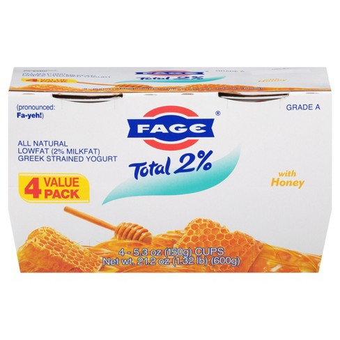Fage Low Fat Greek Strained Yogurt With Honey - 5.3oz - image 1 of 1