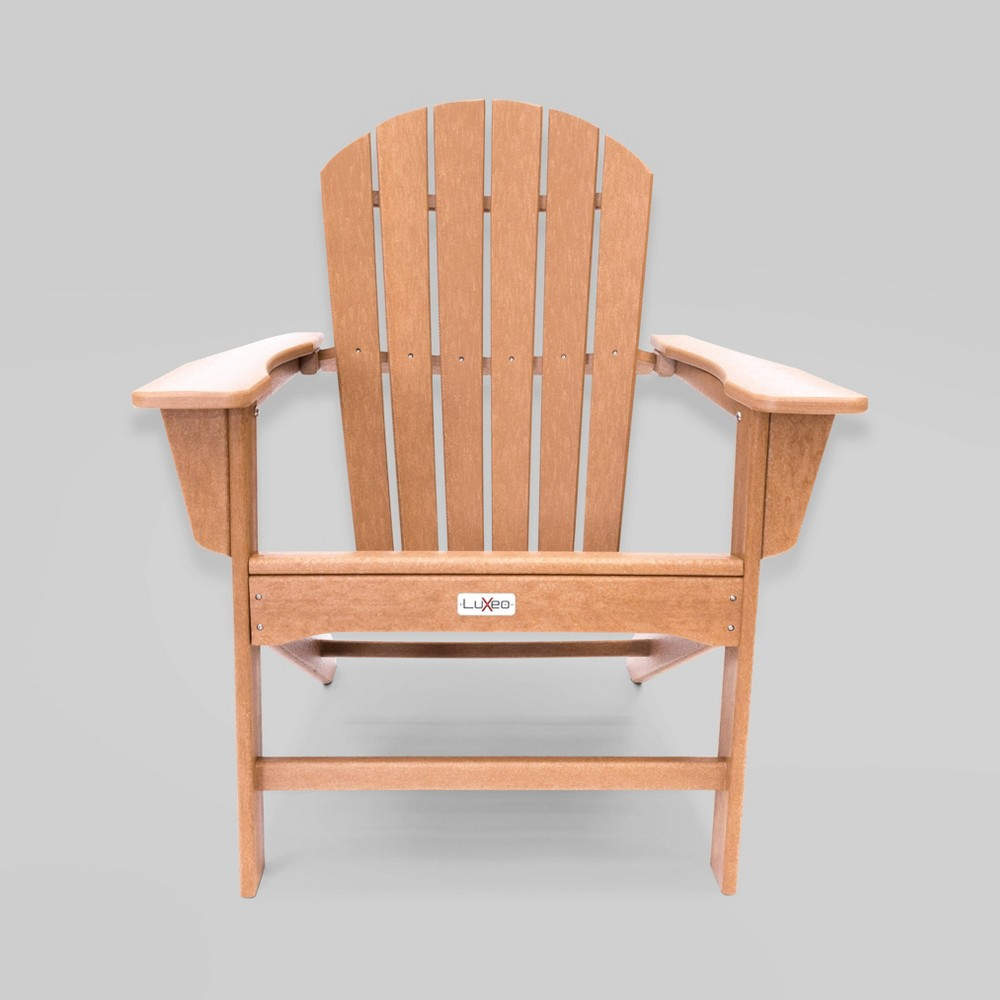 Image of Hampton Patio Adirondack Chair Teak- LuXeo
