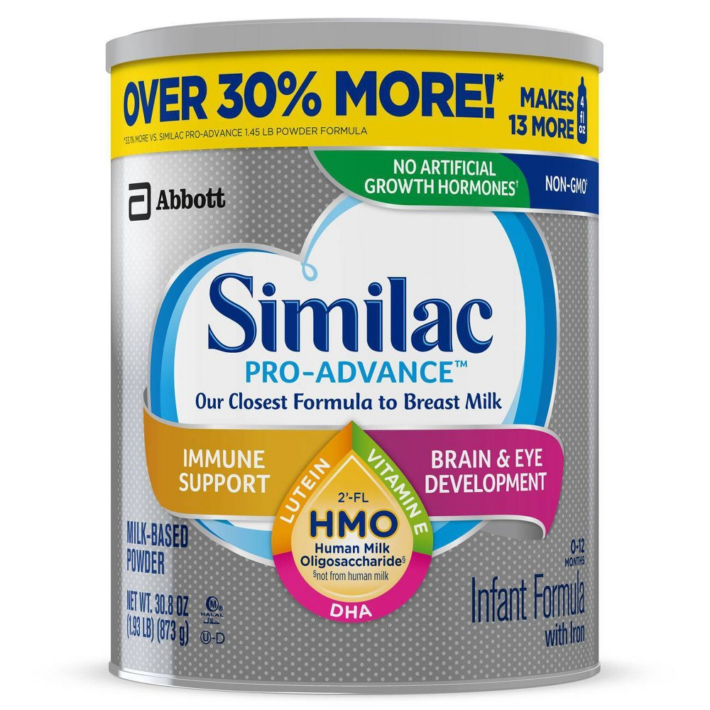 Similac Pro-Advance Non-GMO Infant Formula with Iron Powder - 123.2oz Total