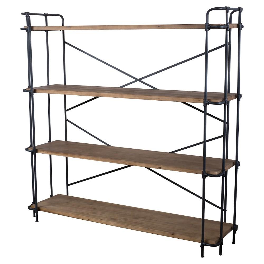Yorktown 65.5 4-Shelf Industrial Bookcase Brown - Christopher Knight Home