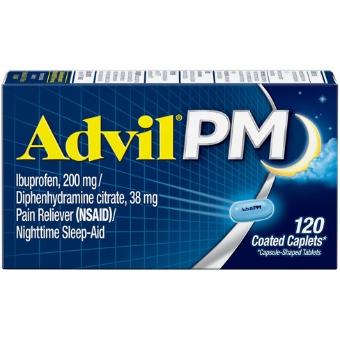 Advil PM Pain Reliever & Nighttime Sleep Aid Caplets - Ibuprofen (NSAID)/Diphenhydramine - image 1 of 4