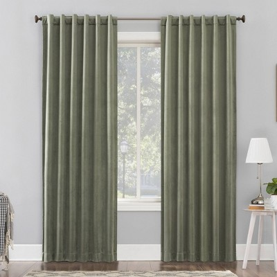 Amherst Velvet Noise Reducing Thermal Back Tab Extreme Blackout Curtain Panel - Sun Zero