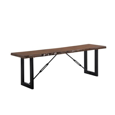 """54"""" Wade Wood Dining Bench Walnut - HOMES: Inside + Out"""
